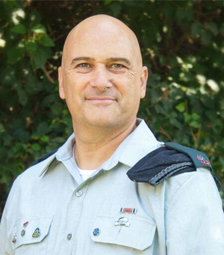 Lt. Col. (Res.) Tiran Attia, specialinuniform