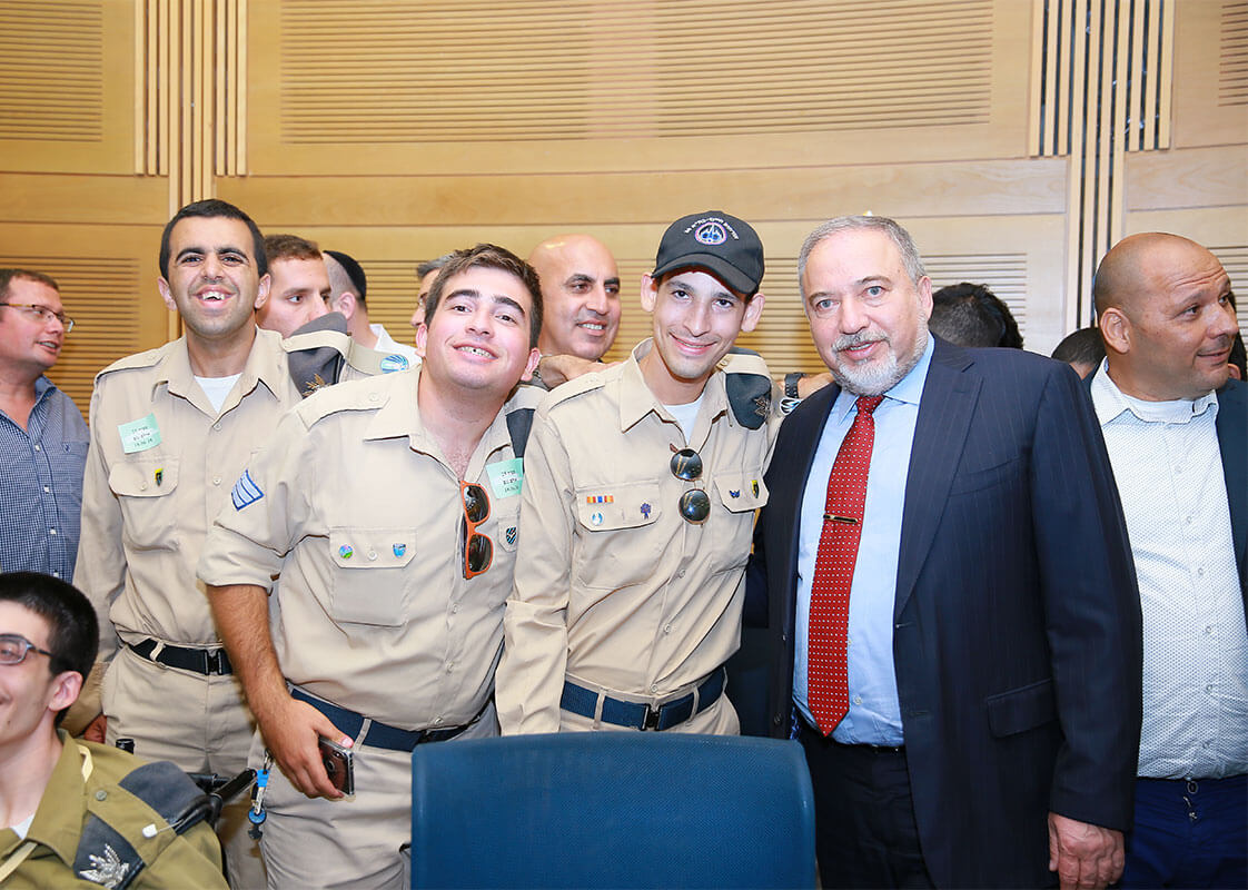 Yvette Lieberman With soldiers of specialinuniform